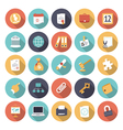 icons flat colors business office vector image vector image