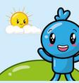 kawaii cartoon doll character vector image
