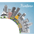 Kinshasa Skyline with Gray Buildings vector image vector image