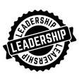 leadership stamp on white vector image vector image