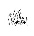 life is a moment hand drawn dry brush lettering vector image vector image