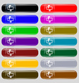 Mailbox icon sign Set from fourteen multi-colored vector image