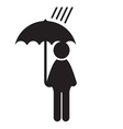 man icon with dog umbrella3 resize vector image vector image