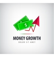 money growth logo icon isolated vector image