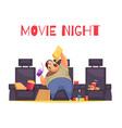 movie night concept vector image vector image