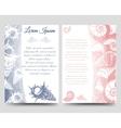 Ocean brochure template with sea shells vector image