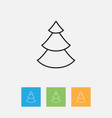 of climate symbol on fir tree vector image