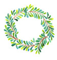 palm leaves wreath watercolor hand painting vector image vector image