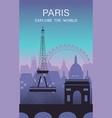 paris city travel background vector image vector image