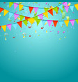 Party flags colorful celebrate abstract background vector image