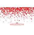 realistic isolated heart confetti on the vector image vector image