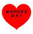 red heart with sharp tip for womens day with vector image vector image