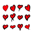 Red hearts set Valentine day love adult xxl vector image vector image