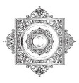 renaissance strap-work border and margin is of vector image vector image