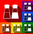 salt and pepper sign set of icons with vector image