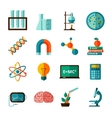 Science icons flat icons set vector image vector image