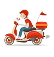Scooter delivery icon vector image vector image