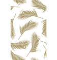 seamless pattern with golden palms leaf vector image