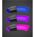 Set of paper labels with place for your own text vector image vector image