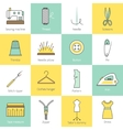 Sewing Equipment Icons vector image vector image
