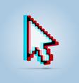 Stereoscopic pointer arrow vector image vector image