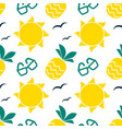 summer seamless pattern with bright sun and vector image vector image