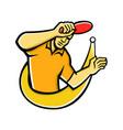 table tennis player smash ball mascot vector image vector image