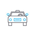 taxi service thin line stroke icon taxi vector image vector image