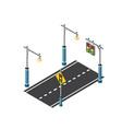 the road streetlight traffic vector image vector image