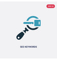 Two color seo keywords icon from programming