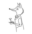 waiter-fox vector image vector image