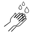 washing hands icon linear style sign wash vector image vector image