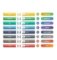 Web buttons icons vector image vector image