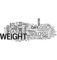 what can a quick weight loss diet do for me text vector image vector image