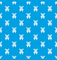 windmill pattern seamless blue vector image vector image