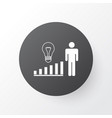 management improvements icon symbol premium vector image