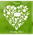 Vegan healthy organic food vector image