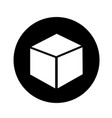 3d cube icon design vector image vector image