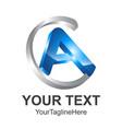 3d letter a logo royal hotel premium boutique vector image vector image