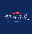 4th july independence day vintage banner vector image vector image