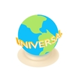 Amusement park universal in Singapore icon vector image