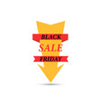 arrow with the inscription black friday sale vector image vector image
