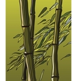bamboo with leaves in wind vector image