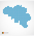 belgium map and flag icon vector image