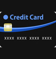 black and blue credit card vector image