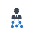business hierarchy structure iconprint vector image vector image