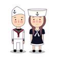 cartoon of cute nautical vector image
