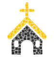 christian church mosaic of squares and circles vector image vector image