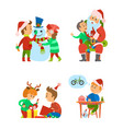 christmas holidays and celebration of winter event vector image vector image