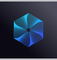 colored lines hexagon logo template vector image